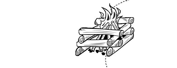 Kindling then logs on the wood burner