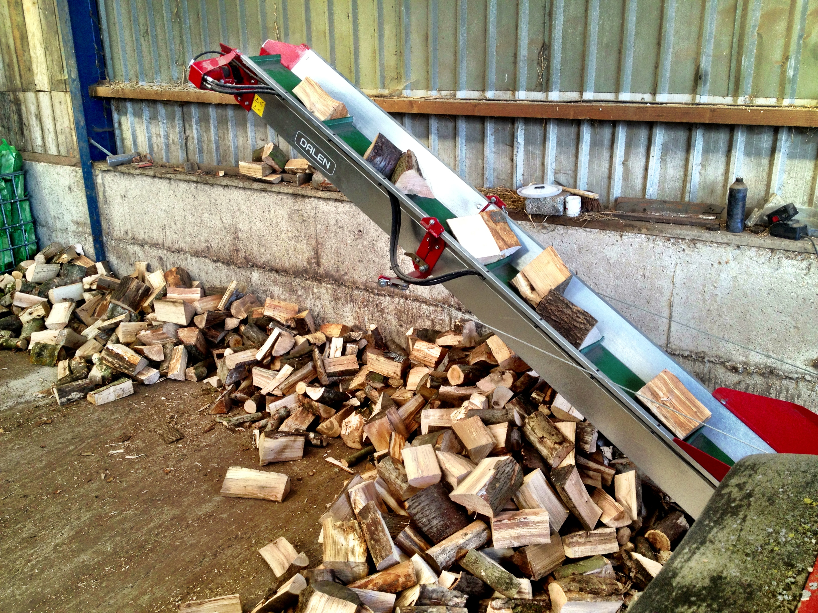 Logs being chopped