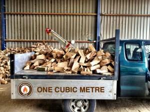 One cubic metre of hardwood logs