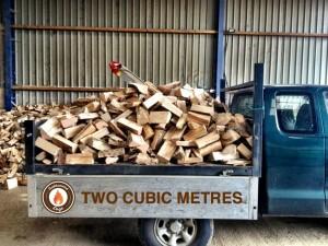 Two cubic metres of hardwood logs